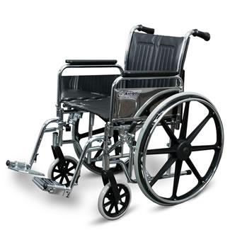 Fauteuil roulant Airgo® ProCare IC avec appuis-bras pleine longueur et détachables et repose-pieds pivotants