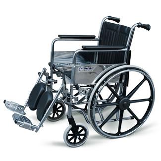 Fauteuil roulant Airgo ProCare IC avec appuis-bras fixes et repose-jambes élévateur