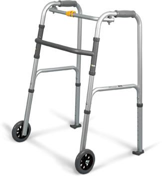 Marchette pliante Airgo® avec jeu de roues et patins pour marchette Airgo